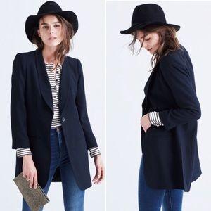 Madewell Trevi Drapey Black Blazer jacket